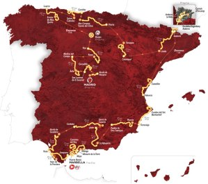 Map Route Vuelta 2015