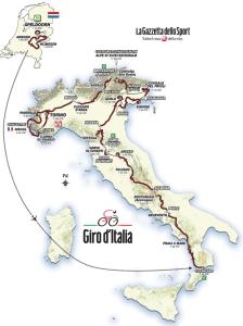 Giro d'Italia 2016 Map