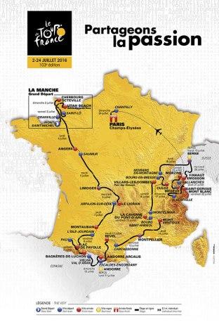 Tour de France 2016 Map Route