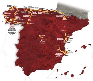 Vuelta Map Route 2016
