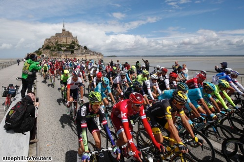 Cycling - The Tour de France cycling race - Stage 1 from Mont Saint-Michel to Utah Beach Sainte-Marie-du-Mont