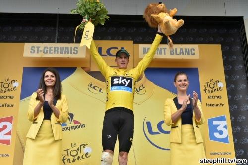 Tour de France 2016 - 22/07/2016 - Etape 19 - Albertville / Saint-Gervais Mont Blanc (146 km) - FROOME Christopher (TEAM SKY) - Maillot Jaune